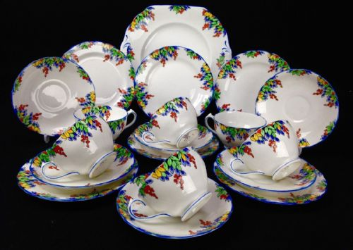 Vintage New Chelsea Staffordshire Tea Set /  Produced For Harrods Of London 1920